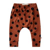 Your Wishes baby broek met biologisch katoen bruin/zwart, Bruin/zwart stip
