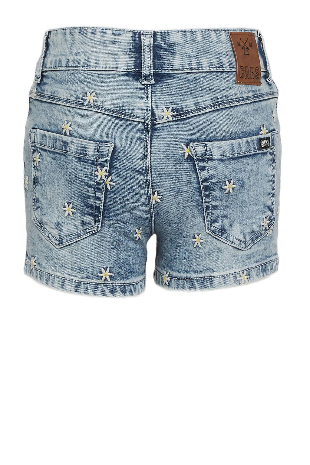 Cars regular fit jeans short Salie met all over print en borduursels bleached used, Bleached used