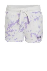 Cars tie-dyesweatshort Cassandra lila/wit, Lila/wit