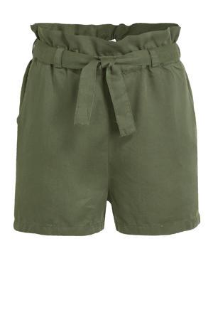 regular fit short Baya army groen