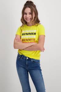 Cars T-shirt Kearny met printopdruk fel geel, Fel geel