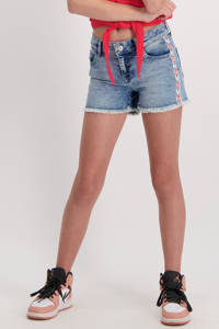 Cars regular fit jeans short Jilla met zijstreep stone bleach used, Stone bleach used
