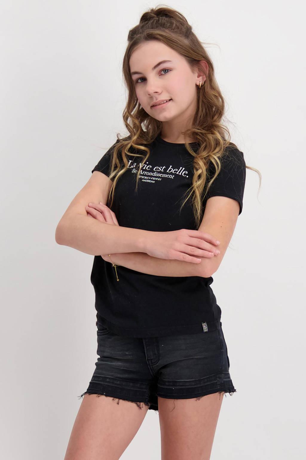Cars T-shirt Belle met tekst zwart, Zwart