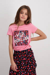 Cars T-shirt Moshi met printopdruk roze, Roze