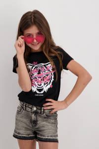 Cars T-shirt Moshi van biologisch katoen zwart, Zwart
