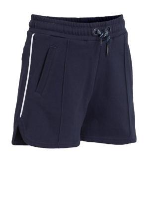 regular fit short Chachi met zijstreep donkerblauw