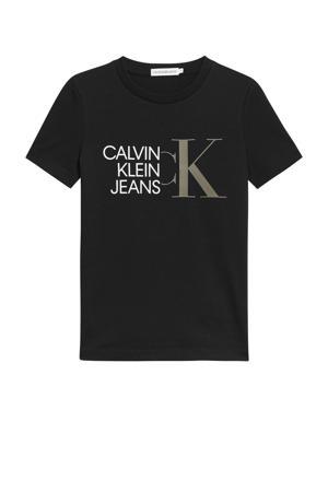 T-shirt van biologisch katoen zwart/wit
