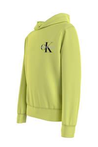 CALVIN KLEIN JEANS hoodie met logo lime groen, Lime groen