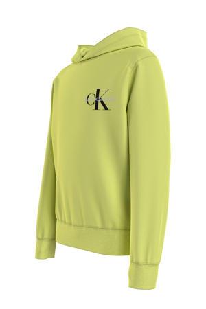 hoodie met logo lime groen