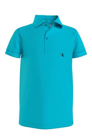 polo met logo turquoise
