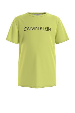 T-shirt van biologisch katoen lime groen