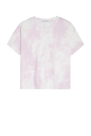 tie-dye T-shirt van biologisch katoen roze