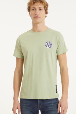 T-shirt Jace met printopdruk lichtgroen