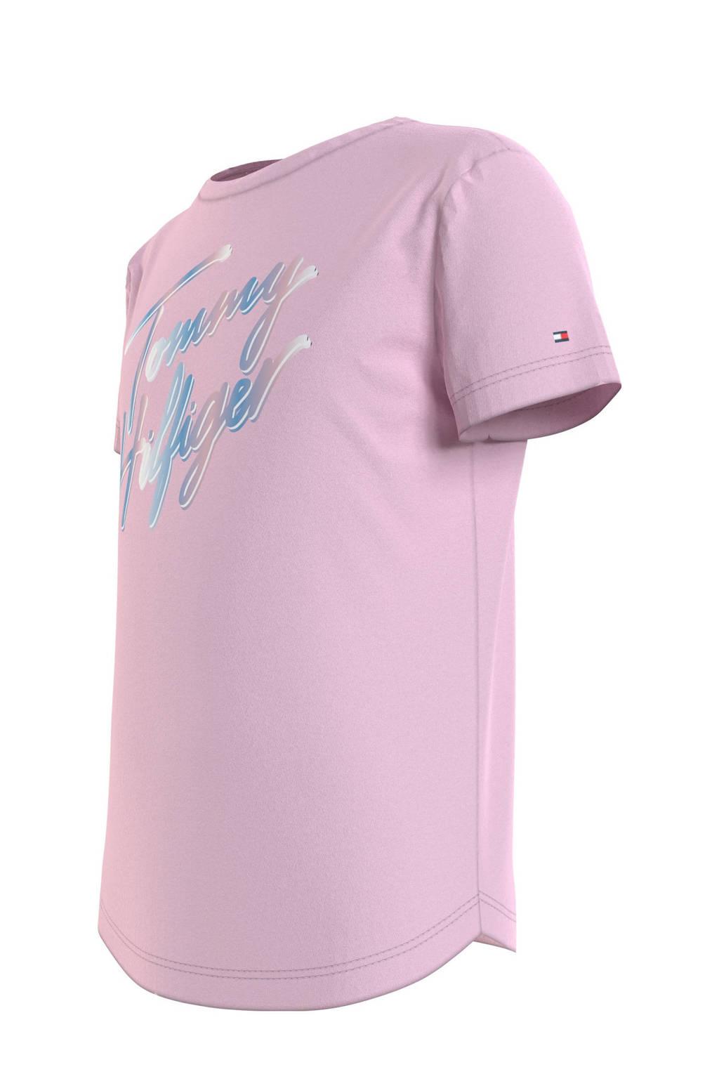 Tommy Hilfiger T-shirt van biologisch katoen roze, Roze