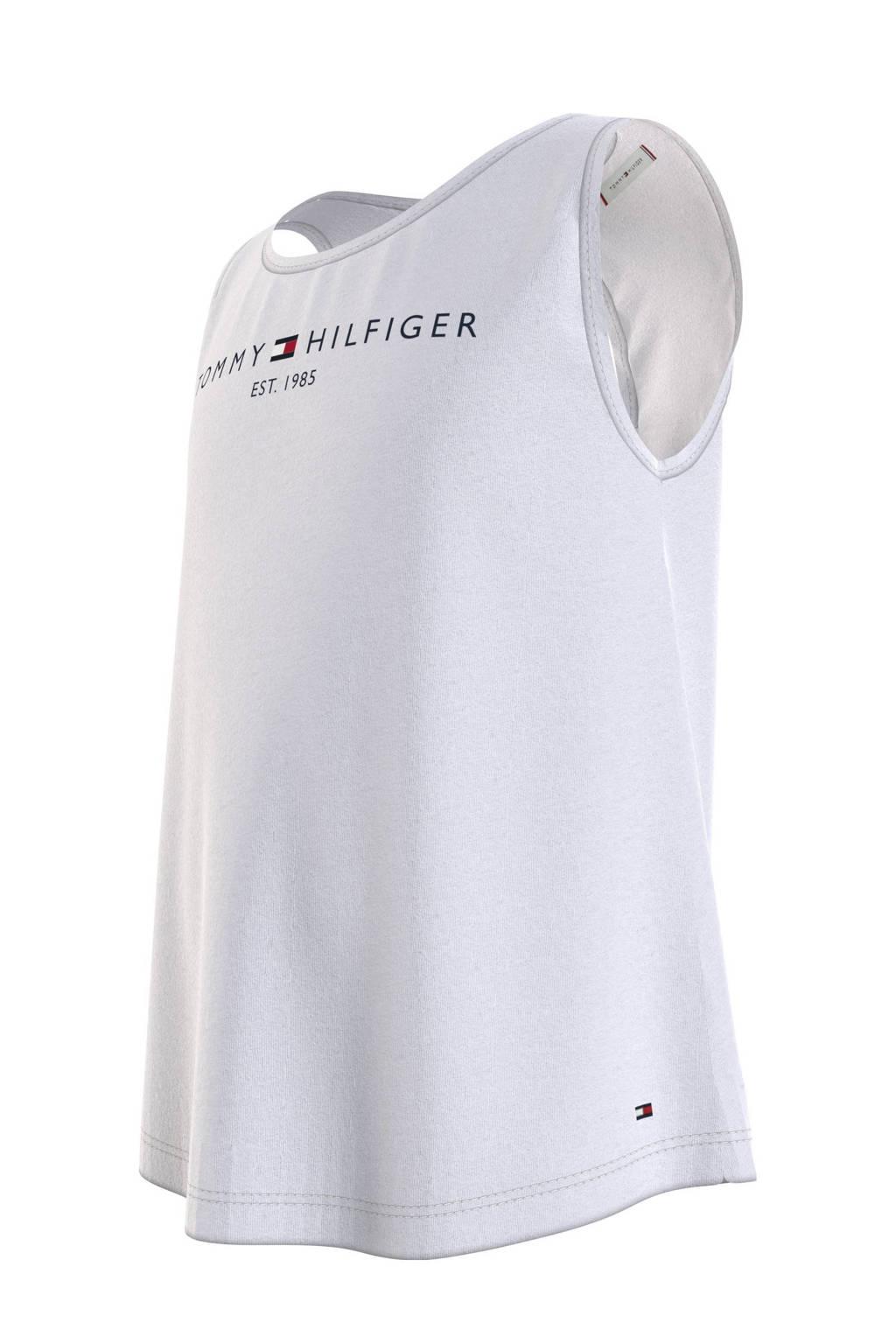 Tommy Hilfiger top met biologisch katoen wit, Wit