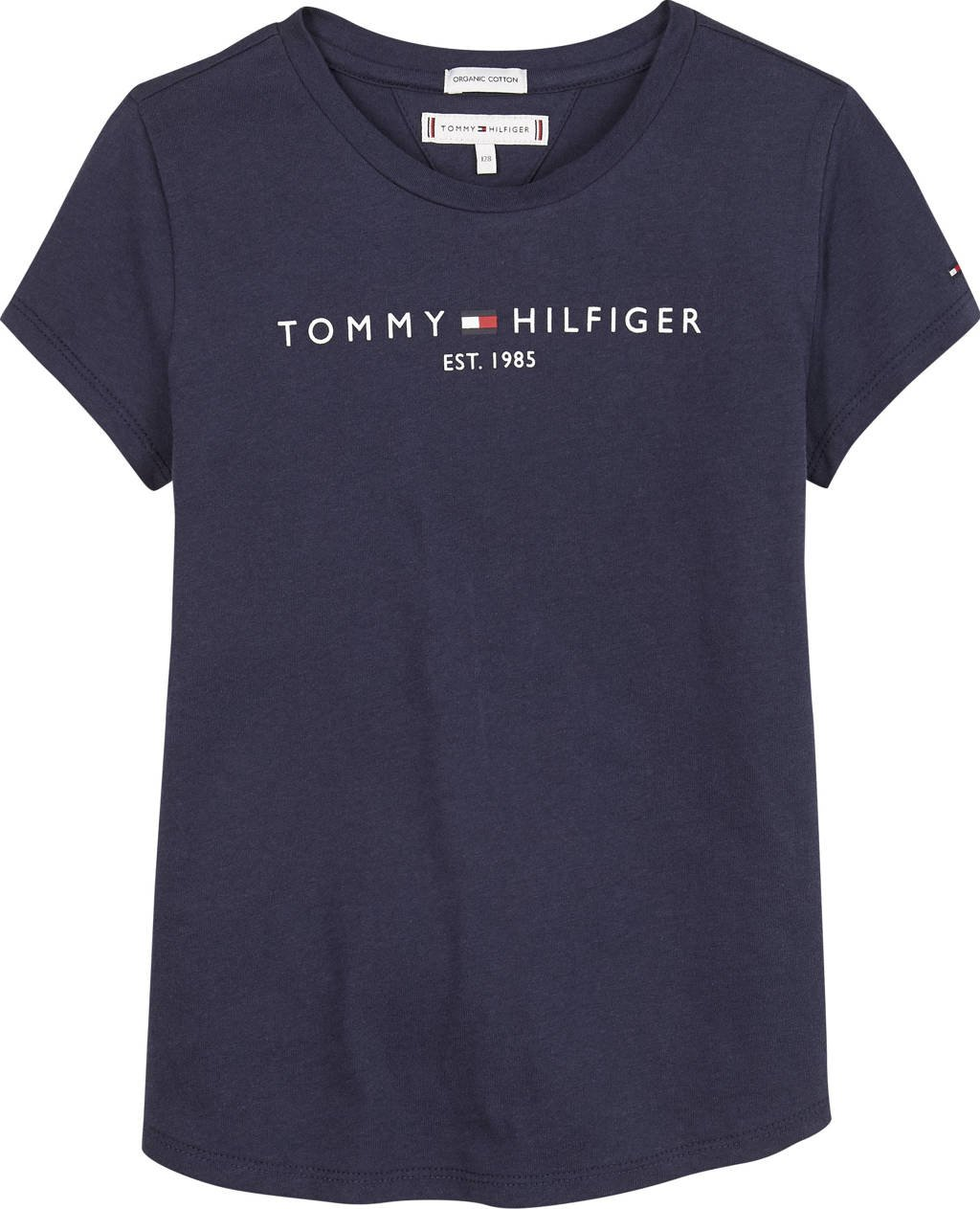 Tommy Hilfiger T-shirt van biologisch katoen donkerblauw, Donkerblauw