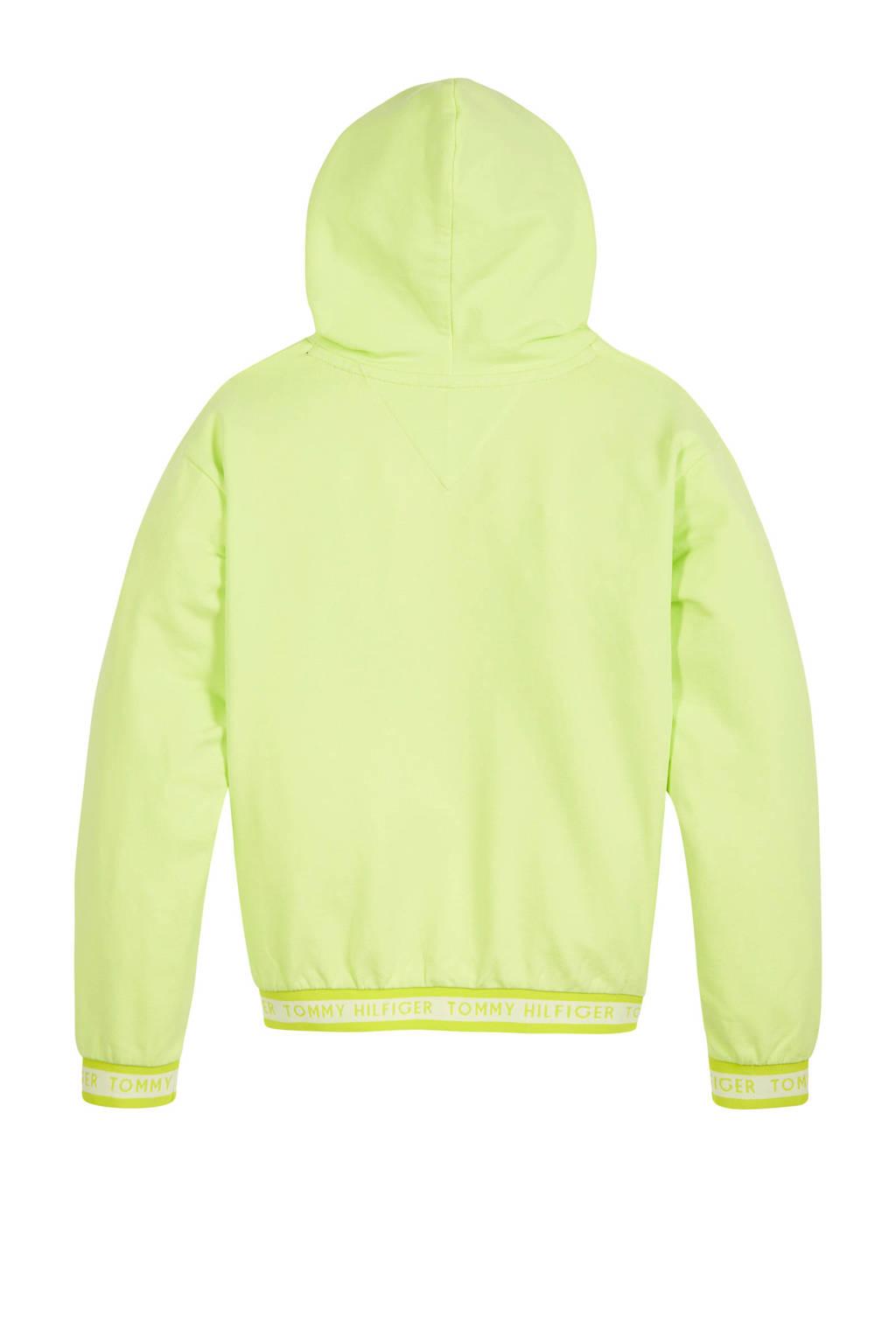 Tommy Hilfiger hoodie met logo limegroen, Limegroen