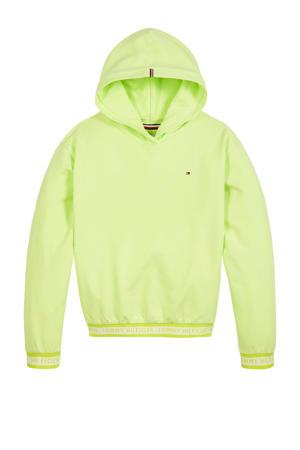 hoodie met logo limegroen
