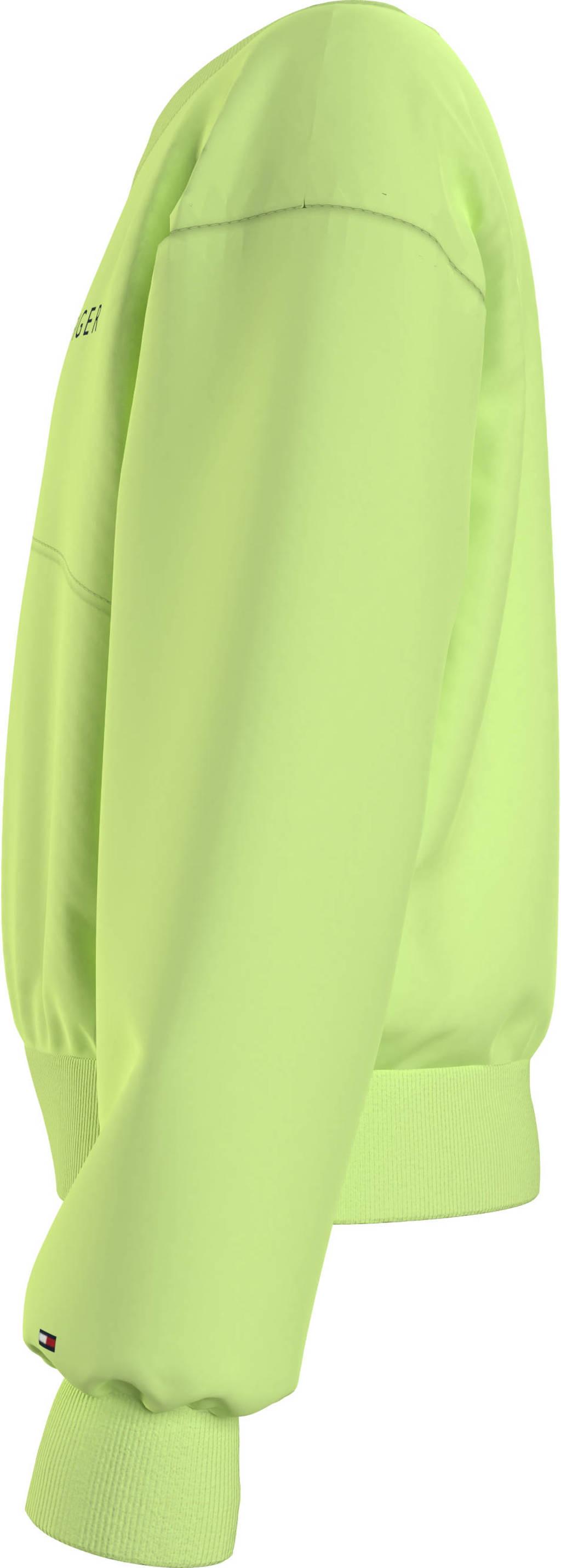 Tommy Hilfiger sweater met logo limegroen, Limegroen