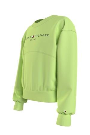 sweater met logo limegroen
