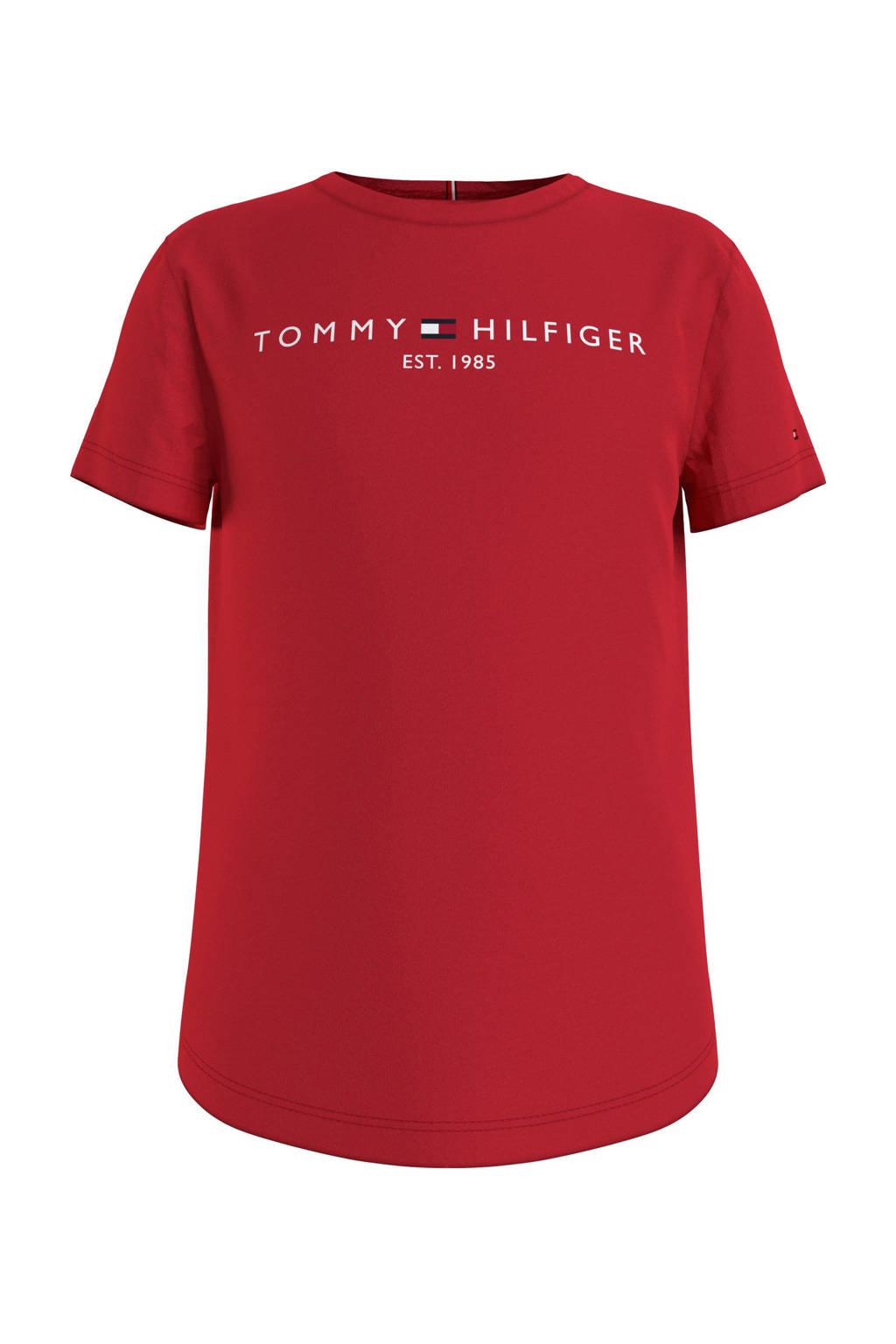 Tommy Hilfiger T-shirt van biologisch katoen rood, Rood