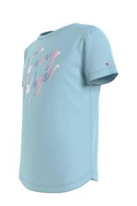 Tommy Hilfiger T-shirt van biologisch katoen blauw, Blauw