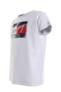 Tommy Hilfiger T-shirt van biologisch katoen wit/rood/donkerblauw