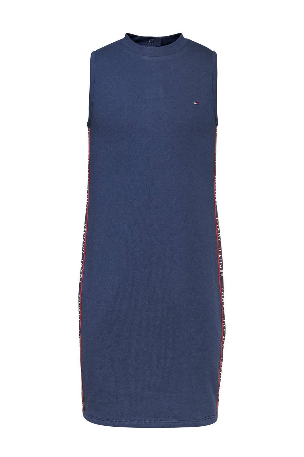 Tommy Hilfiger sweatjurk met biologisch katoen donkerblauw, Donkerblauw