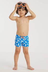 BEACHWAVE baby boys UV 50+ T-shirt + zwemboxer blauw/wit, Blauw/wit