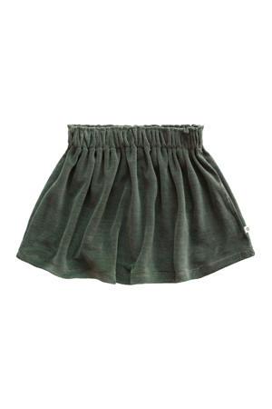 fluwelen rok met plooien groen