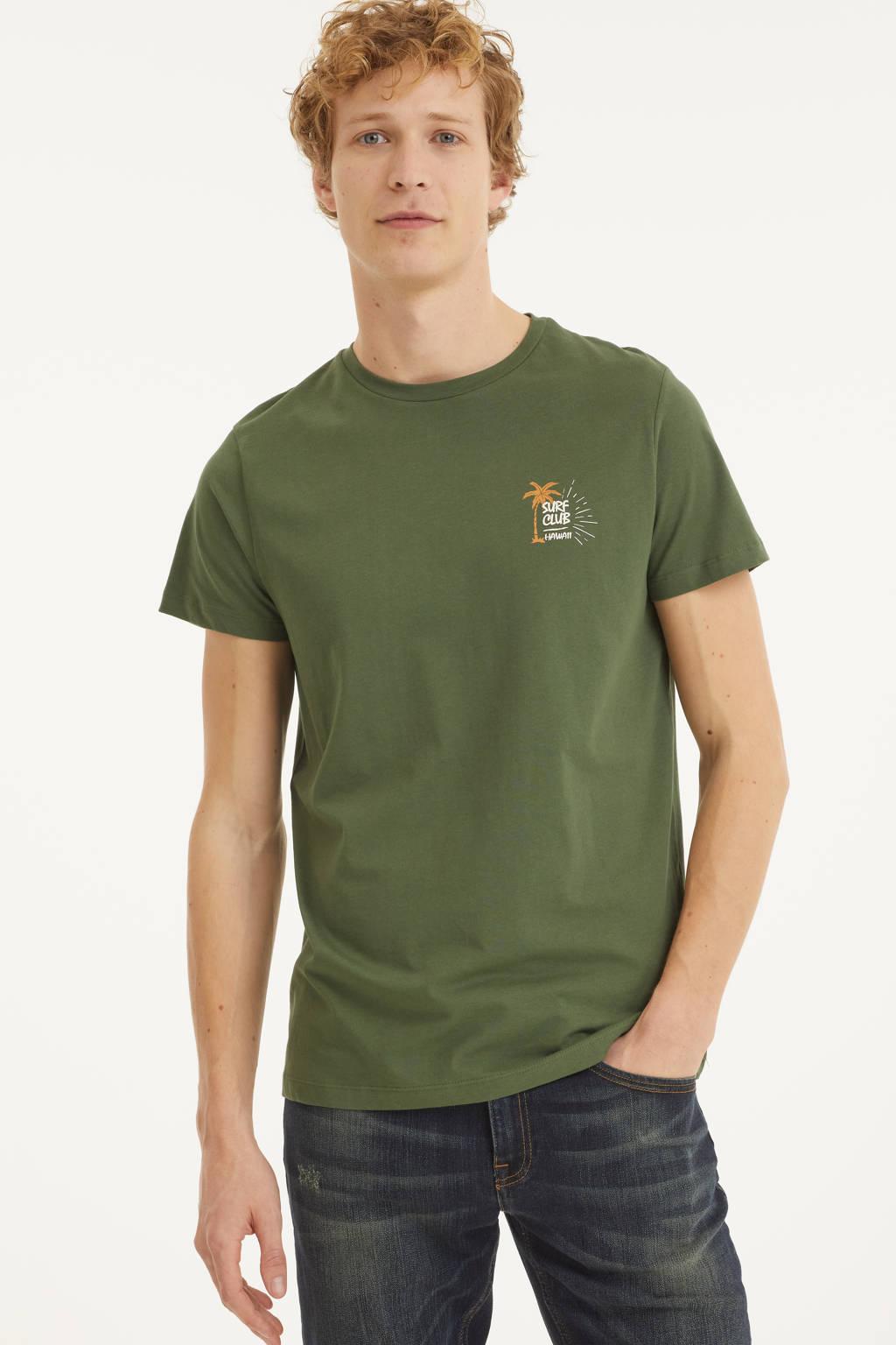 Redefined Rebel T-shirt Ryder van biologisch katoen groen, Groen