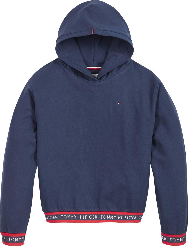 Tommy Hilfiger hoodie met logo donkerblauw/rood, Donkerblauw/rood