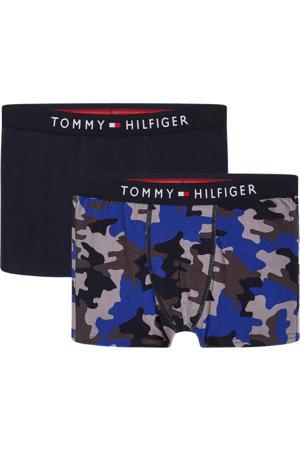 boxershort - set van 2 donkerblauw/blauw/antraciet