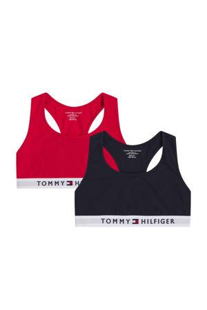 bh top - set van 2 zwart/rood