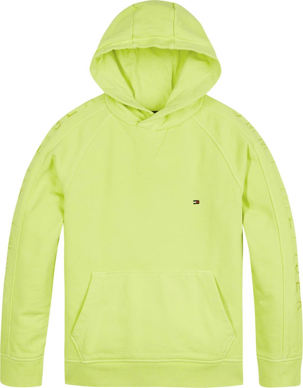 Tommy Hilfiger hoodie van biologisch katoen limegroen, Limegroen
