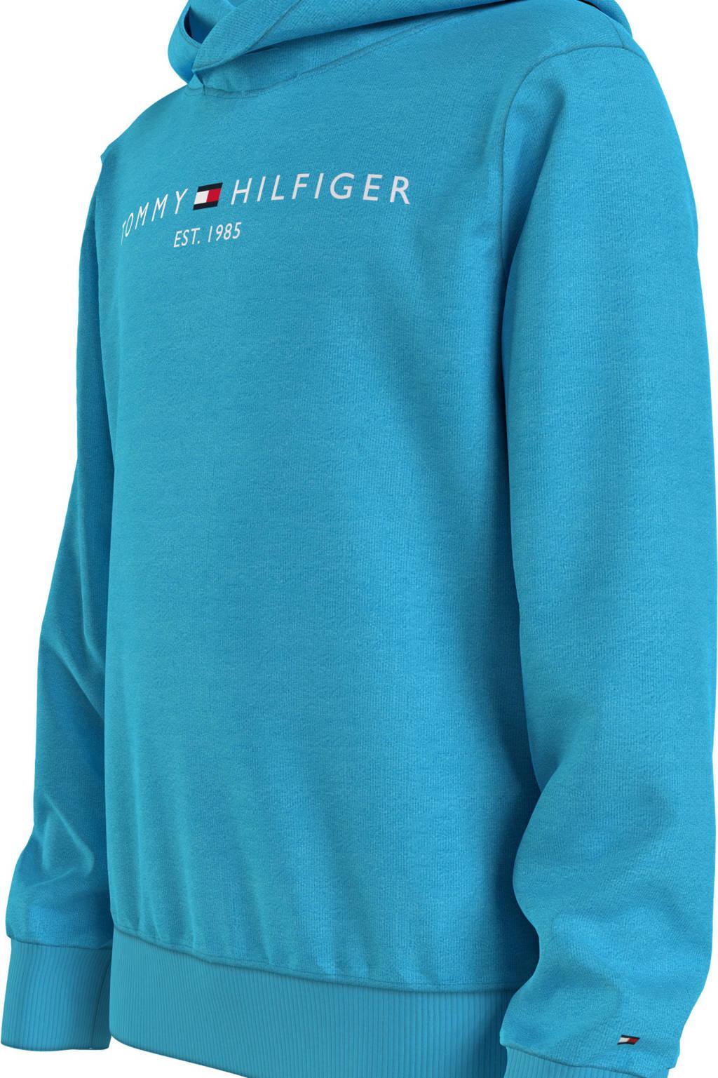 Tommy Hilfiger hoodie van biologisch katoen blauw, Blauw