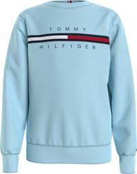 Tommy Hilfiger sweater met logo lichtblauw, Lichtblauw