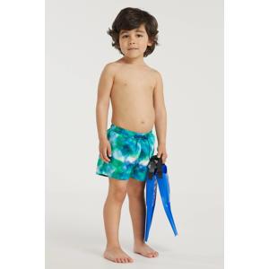 baby boys zwemshort met all over print groen/blauw
