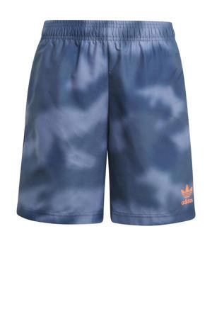 short kobaltblauw/rood