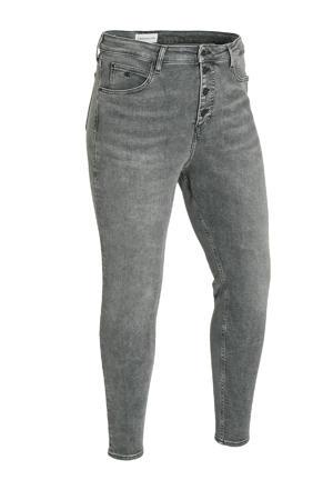 high waist skinny jeans 1bz denim grey