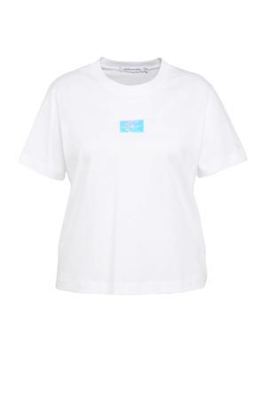 T-shirt van biologisch katoen wit/multi