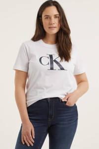 CALVIN KLEIN Plus T-shirt met logo wit, Wit