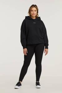 CALVIN KLEIN Plus hoodie met logo en borduursels zwart/wit, Zwart/wit