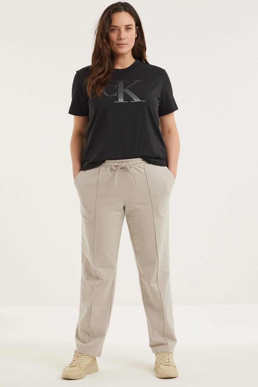 CALVIN KLEIN Plus T-shirt met logo marine, Marine