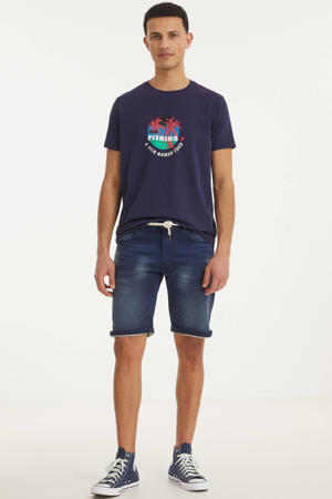 slim fit jeans short Sydney Terry bond blue 455