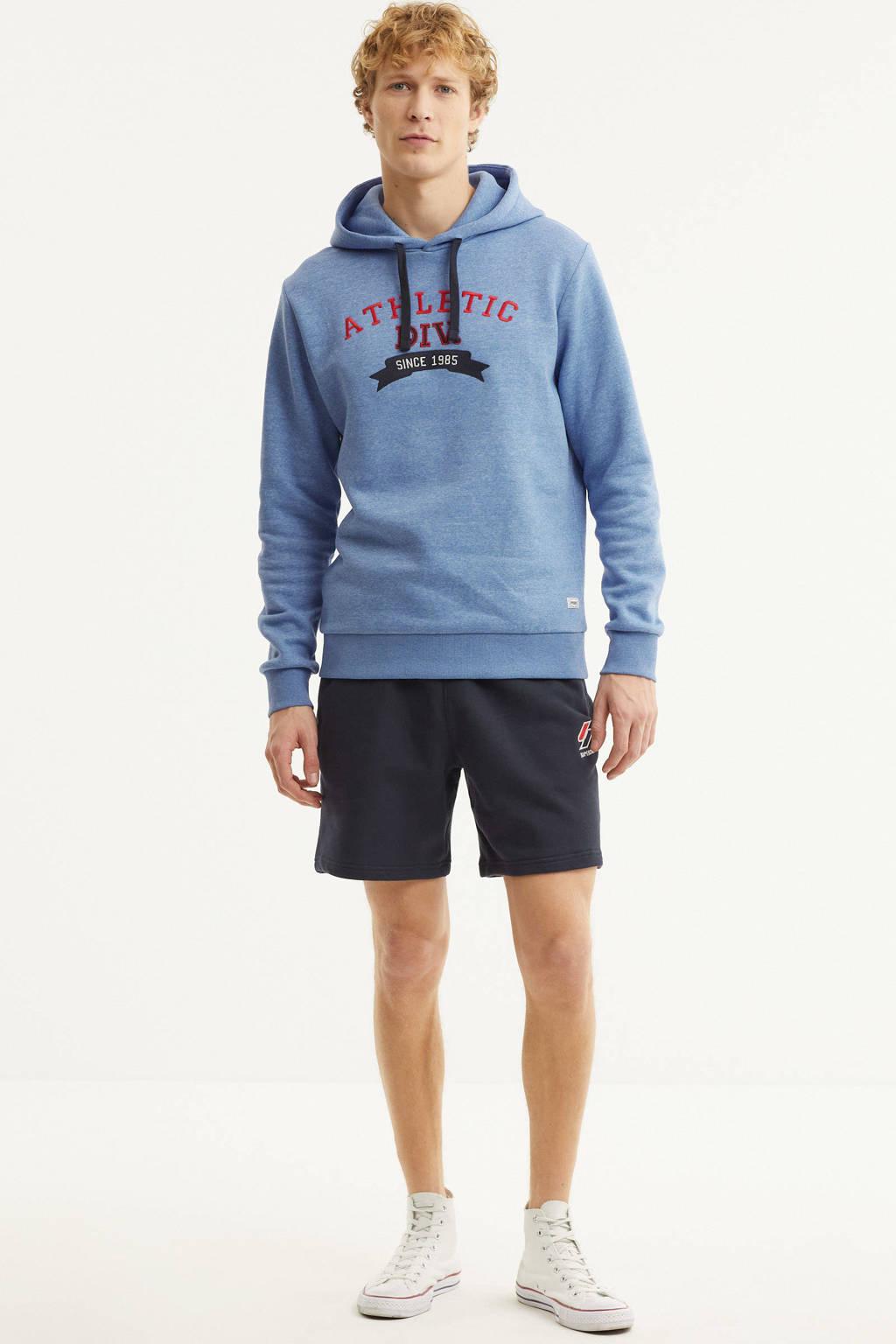 PRODUKT hoodie College met printopdruk lichtblauw, Lichtblauw