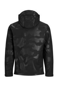 PRODUKT  zomerjas Anton met camouflageprint zwart, Zwart