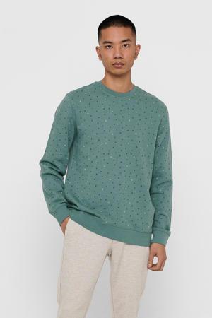 sweater Malik van biologisch katoen groen