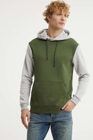 hoodie groen/grijs