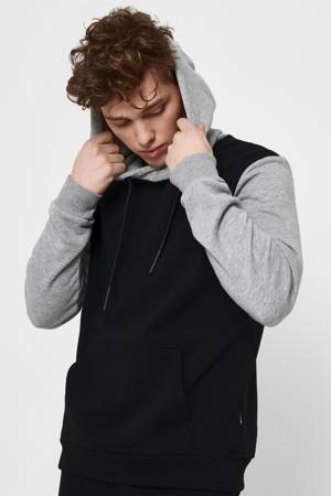 hoodie zwart/grijs